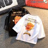 男童短袖t恤純棉卡通T恤圓領【洛麗的雜貨鋪】