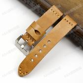 手工植鞣皮復古真皮表帶錶帶 19 22 24MM適配沛納海頭層牛皮男加厚表帶
