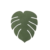 LIND DNA 丹麥皮革葉子杯墊 Hippo森林綠