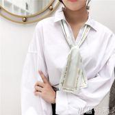 春夏領巾絲巾小長條韓國小絲巾女百搭多功能裝飾網紅同款發帶絲帶 初語生活