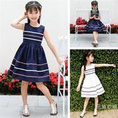 洋裝女童洋裝夏中大童長裙2019新款韓版兒童純棉洋氣公主裙女孩時尚