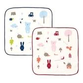 奇哥 彩繪熊紗布方巾(紅色)(25x25cm) 68元
