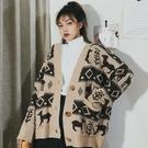 新款秋冬韓版慵懶風寬鬆百搭外穿針織開衫毛衣外套女學生上衣  koko時裝店