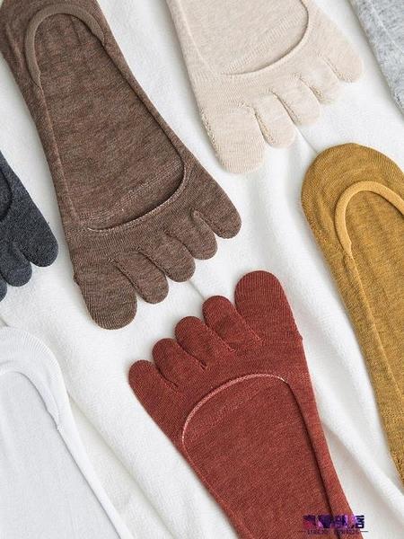 五指襪 五指襪女夏季船襪純棉淺口低幫短襪底硅膠防滑薄款分趾襪防臭隱形  降價兩天