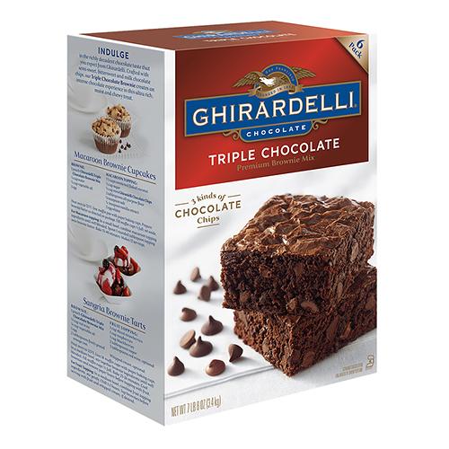 【 現貨 】Ghirardelli Triple 巧克力布朗尼預拌粉 3.4 公斤 x1入