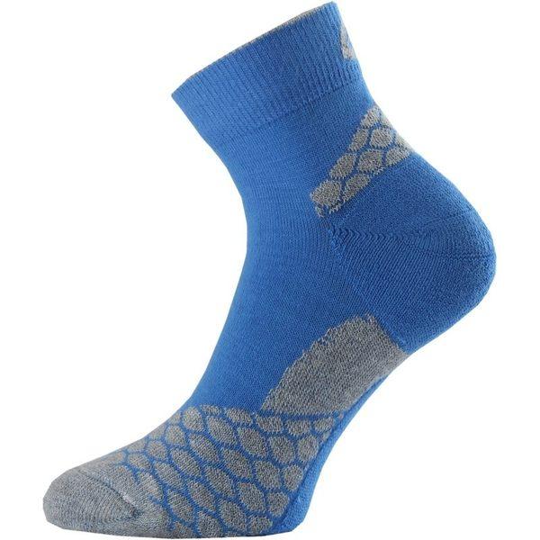Lasting RON超涼快乾跑襪-短統 S 508藍/灰 健行襪 登山襪 快乾襪 [易遨遊]