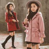 女童毛呢外套秋冬裝洋氣公主童裝小女孩中長款呢子大衣 QG15641『Bad boy時尚』