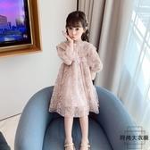 女童連身裙秋裝蓬蓬紗裙女孩洋裝長袖洋氣公主裙子【時尚大衣櫥】