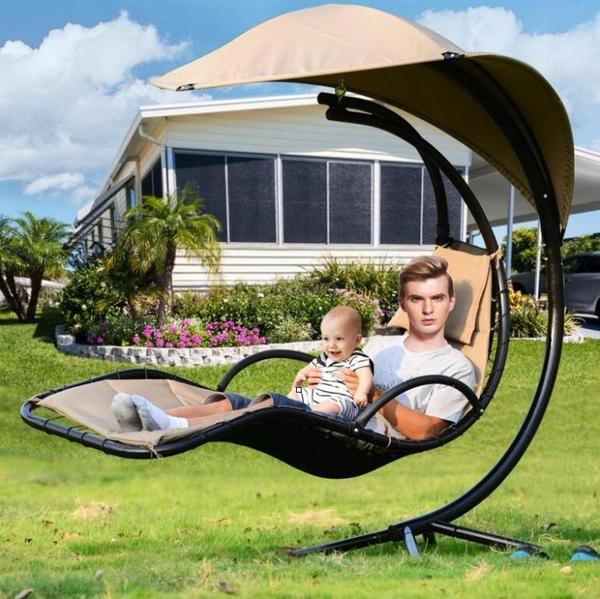 吊床羅馬吊椅拆裝可躺庭院單人搖床客廳鐵藝懶人躺床陽臺搖籃椅YYJ【凱斯盾】