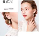MG 耳環女-星星別針耳環女耳墜氣質韓國個性耳釘耳夾五角星耳飾