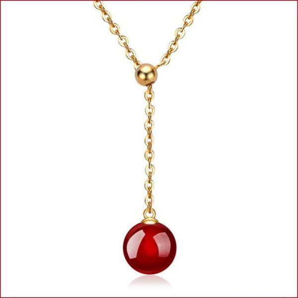 瑪瑙吊墜 黃金項鏈項飾 瑪瑙珠項鏈s152