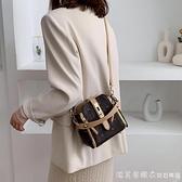 洋氣小包包女包2020新款潮時尚手提印花水桶包韓版鎖扣單肩斜挎包 美眉新品