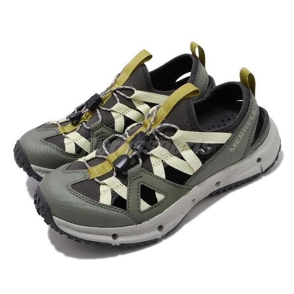 Merrell 戶外鞋 Hydrotrekker Synthetic Shandal 綠 黃 護趾涼鞋 女鞋 【ACS】 ML033536