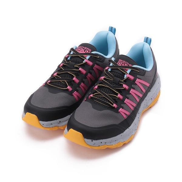 SKECHERS 慢跑系列 GORUN TRAIL ALTITUDE 綁帶運動鞋 黑灰粉 128203BKLB 女鞋