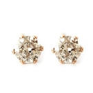 One&Only Jewellery【日本代購】0.2ct 棕色鑽石 天然鑽石耳環 不銹鋼SS316L【附鑑定證書】16120601p