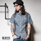 產地:台灣 版型:男款 主布:3C144單寧條紋襯衫布 成分:100% Cotton
