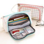 簡約帆布棉麻筆袋男女生大容量筆包