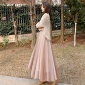 紗裙 半身裙夏a字裙女長款春很仙的流行心機紗裙超火網紗仙女裙新年禮物