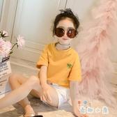 女童短袖兒童全棉t恤夏裝打底衫韓版夏季上衣體恤【奇趣小屋】