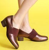 MIT*(橡膠底)束帶款/小牛皮/手工鞋-558013 古銅-papaies 氣墊鞋 (全真皮)