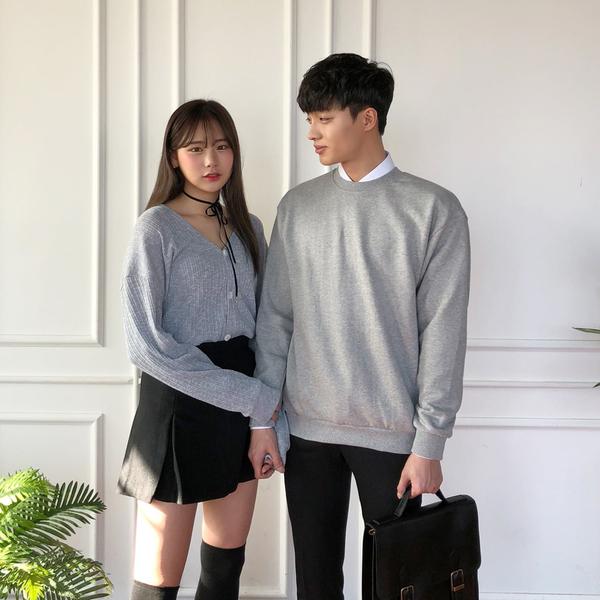 MIT 大學T 韓系刷毛親膚保暖上衣 情侶款【BSJ6333】