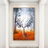 現代北歐式風格玄關裝飾畫客廳沙發背景牆畫掛畫壁畫美式簡約油畫 台北日光