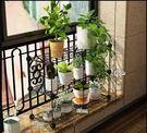 花架 鐵藝花架置物架陽台裝飾室內綠蘿多肉花架子多層落地式客廳花盆架
