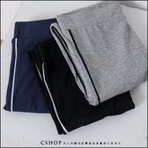 褲子  Sport側滾邊棉質內搭褲  三色-小C館日系