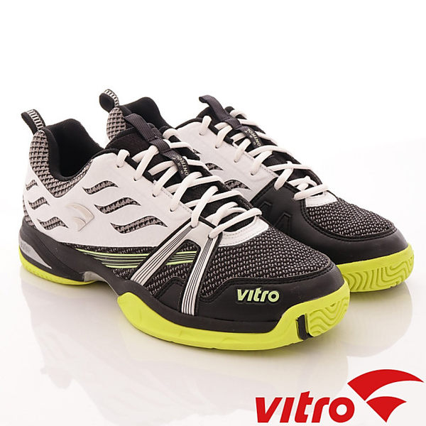 【VITRO】韓國專業運動鞋-TIGER KNIT系列頂級專業網球鞋-黑白(男)