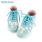 Bo Derek 漫天星辰撞色彈力飛織休閒鞋-藍色