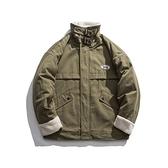 羊羔毛外套-翻領復古寬鬆保暖短款男夾克2色73zj44[巴黎精品]