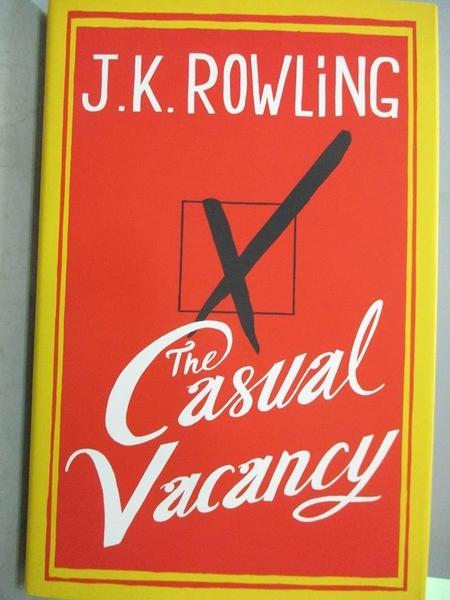 【書寶二手書T8/原文書_WFX】The Casual Vacancy _Rowling, J. K.