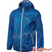 Wildland 荒野0A61986-77中藍色 男抗UV輕薄印花外套 防潑水/輕薄透氣/抗UV/運動休閒/夾克*