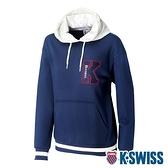 K-SWISS Heritage Hoodie時尚連帽上衣-男-深藍