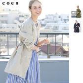 出清 輕薄外套 雙排釦軍裝大衣 免運費 日本品牌【coen】
