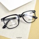 配眼鏡 方型亮面細黑膠框NYA84