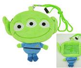 【卡漫城】三眼怪 拉鍊零錢包 悠遊卡套 票卡包 ㊣版 Toy Story 玩具總動員 Alien 識別證套 絨毛