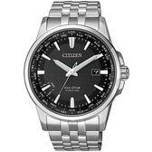 【台南 時代鐘錶 CITIZEN】星辰 光動能 世界時區商務風格手錶 BX1001-89E 黑 41mm