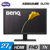 【BenQ 明基】GL2780 27型 光智慧玩色護眼螢幕 【贈飲料杯套】
