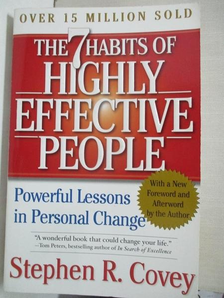 【書寶二手書T1/財經企管_GKZ】7 Habits Of Highly Effective People…_COVEY, STEPHEN R
