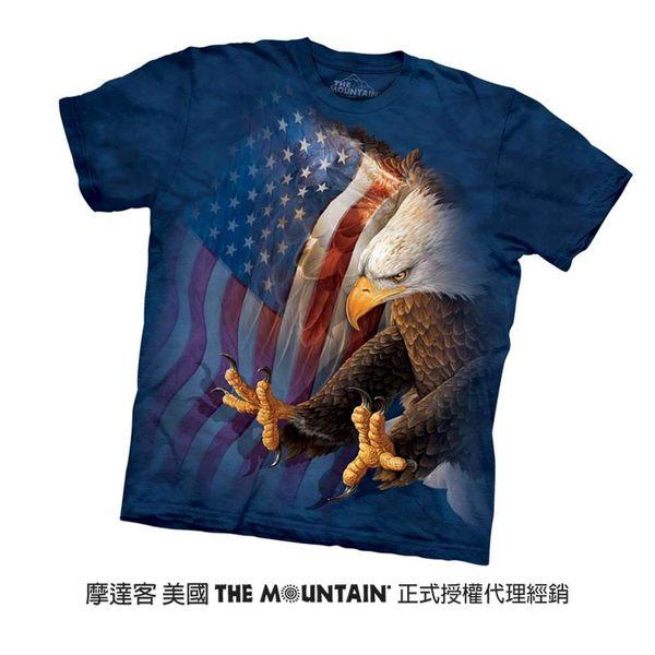 【摩達客】(預購)美國進口The Mountain  美旗鷹爪 純棉環保短袖T恤(10416045049a)