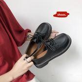 娃娃鞋-復古女平底單鞋學生原宿圓頭娃娃鞋百搭韓版學院風 花間公主