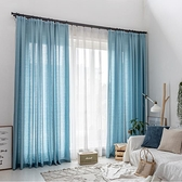 臥室隔斷白紗飄窗遮光簡約客廳透光紗窗簾陽臺【聚宝屋】