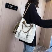 帆布包 大容量包包 新款 韓版百搭 斜挎包 簡約時尚 單肩手提包