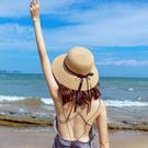 草帽女夏天小清新韓版百搭帽子海邊遮陽沙灘帽網紅防曬太陽漁夫帽 店慶降價