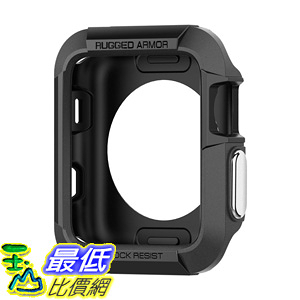 [106美國直購] 保護殼 Spigen Rugged Armor Apple Watch Case Resilient Shock Absorption 42mm  (2015)