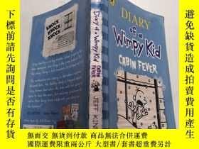 二手書博民逛書店diary罕見of a wimpy kid cabin fever:一個弱小的小木屋熱日記Y200392