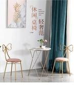 化妝凳現代簡約蝴蝶結網紅化妝梳妝凳靠背美甲椅子臥室ins北歐少女靠背  LX春季新品