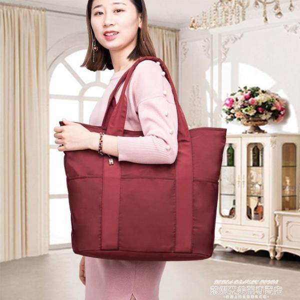 尼龍包 牛津布手挽女包2021新款多口袋大容量舞蹈休閒旅行尼龍手提側背包 新品