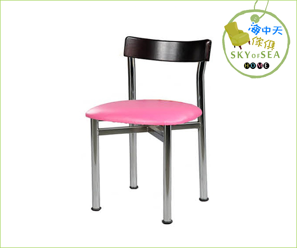 {{ 海中天時尚傢俱 }} C10  摩登時尚 餐椅系列 504-09  路易士餐椅/電鍍腳